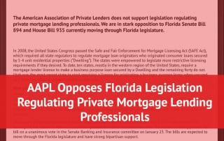 AAPL Opposes Florida Mortgage Lending Bills