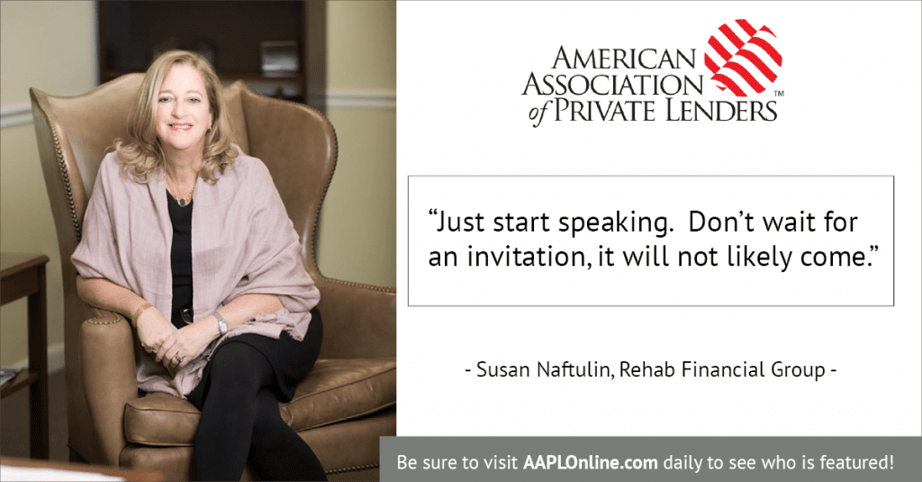 Susan Naftulin, Rehab Financial Group