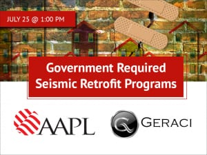 Webinar: Government Required Seismic Retrofit Programs