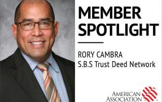 Rory Cambra, AAPL Member Spotlight. SBS Trust Deed Network